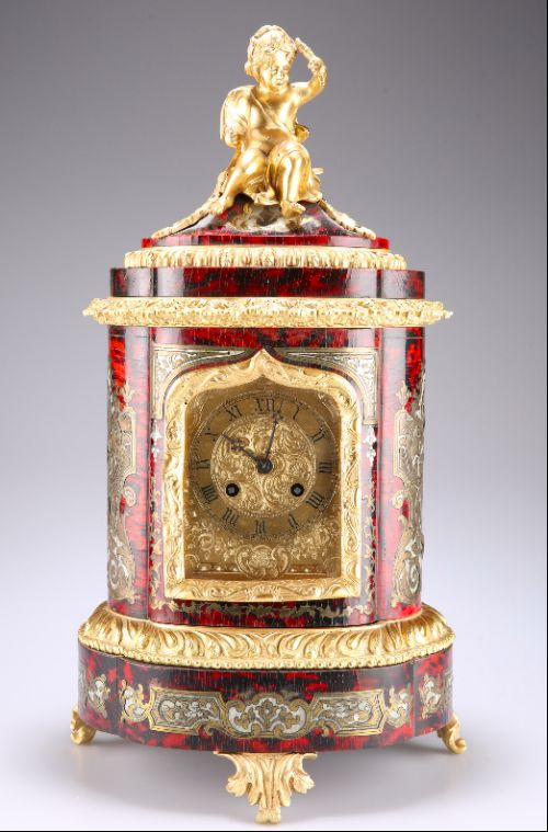 a 19th century french boulle bracket clock in louis xv style