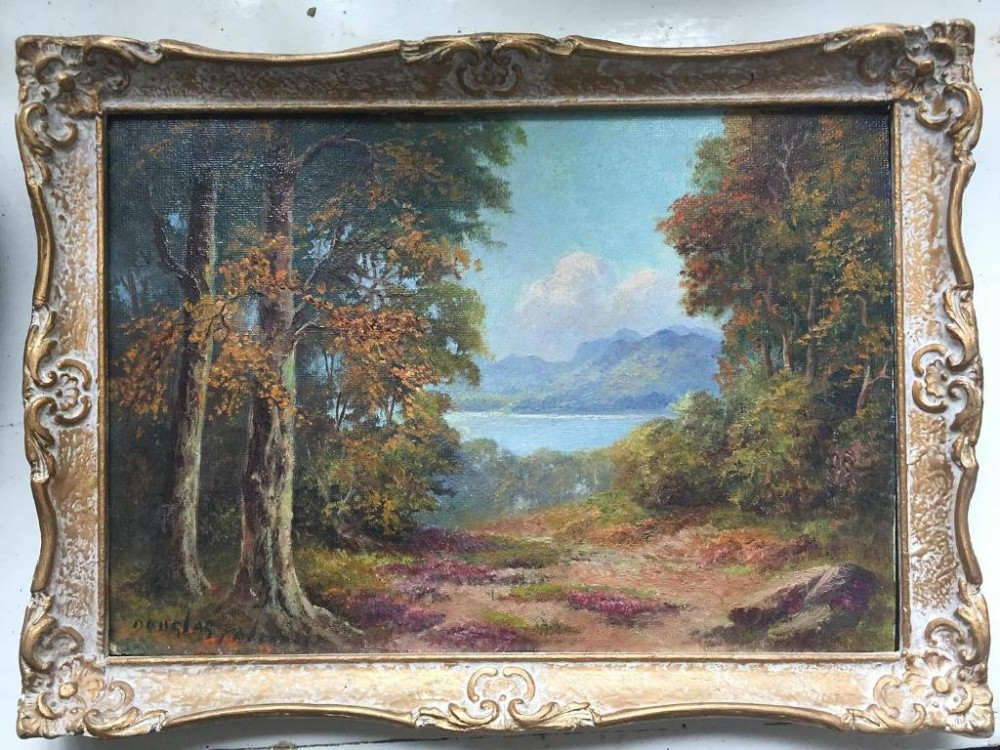 pair of douglas falconer scottish 19132004 oil paintings
