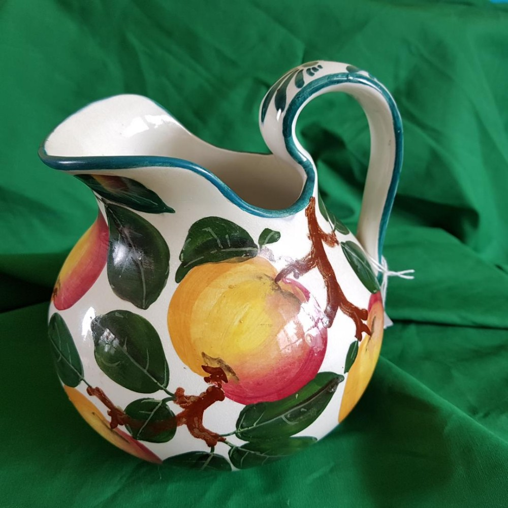 small wemyss water jug ure decorated with apples
