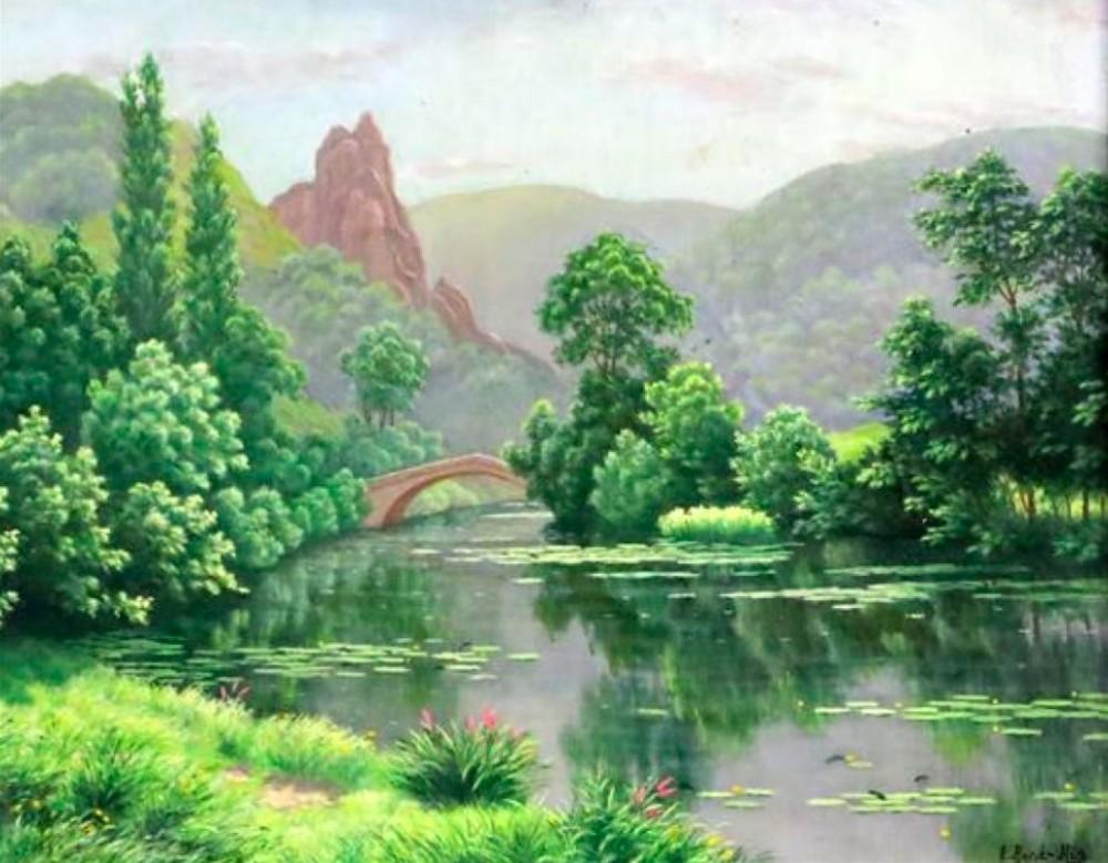 charles edmund rene his 18771960 oil painting