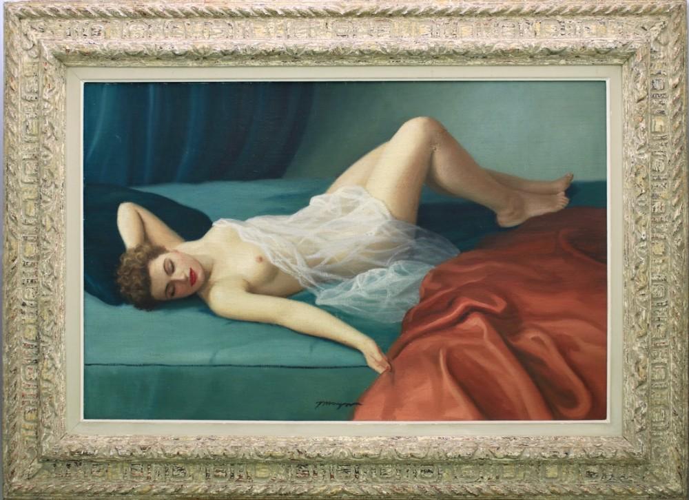 joan mayor c 1890 1970 a huge nude oil painting