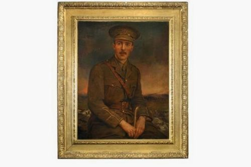 portrait military army officeryork lancaster regiment watts frame
