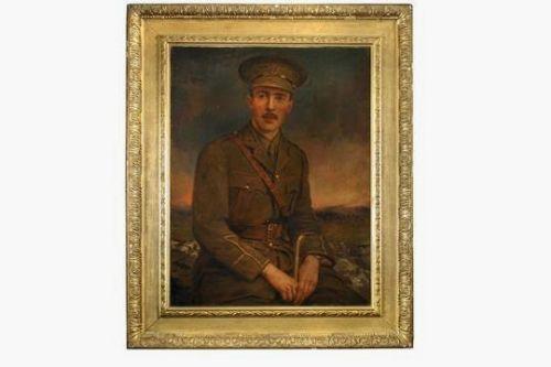 portrait military army officeryork lancaster regiment watts frame