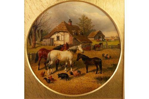 19th century landscape paintinghorsespigspoultry j f herring jr