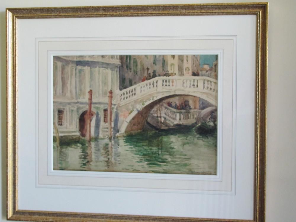 venice canal watercolour helen donaldsmith scottish exh18841929