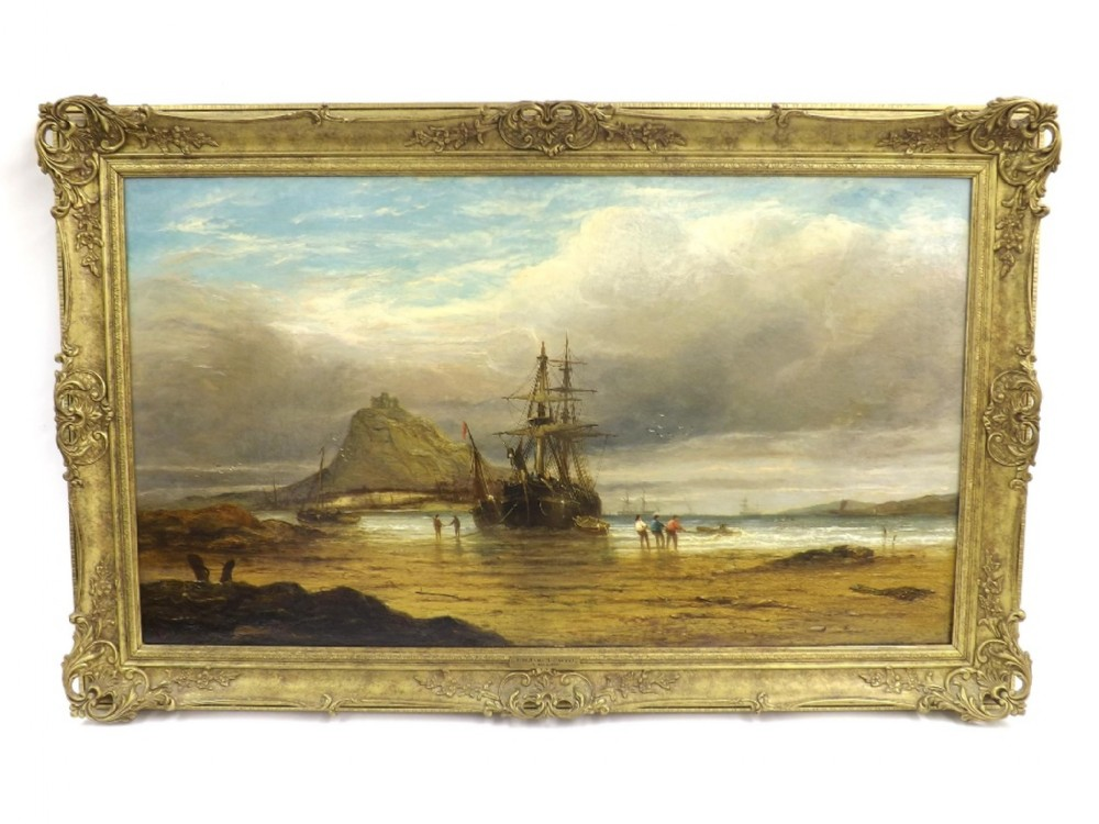 st michael's mount cornwall seascape oil john callow