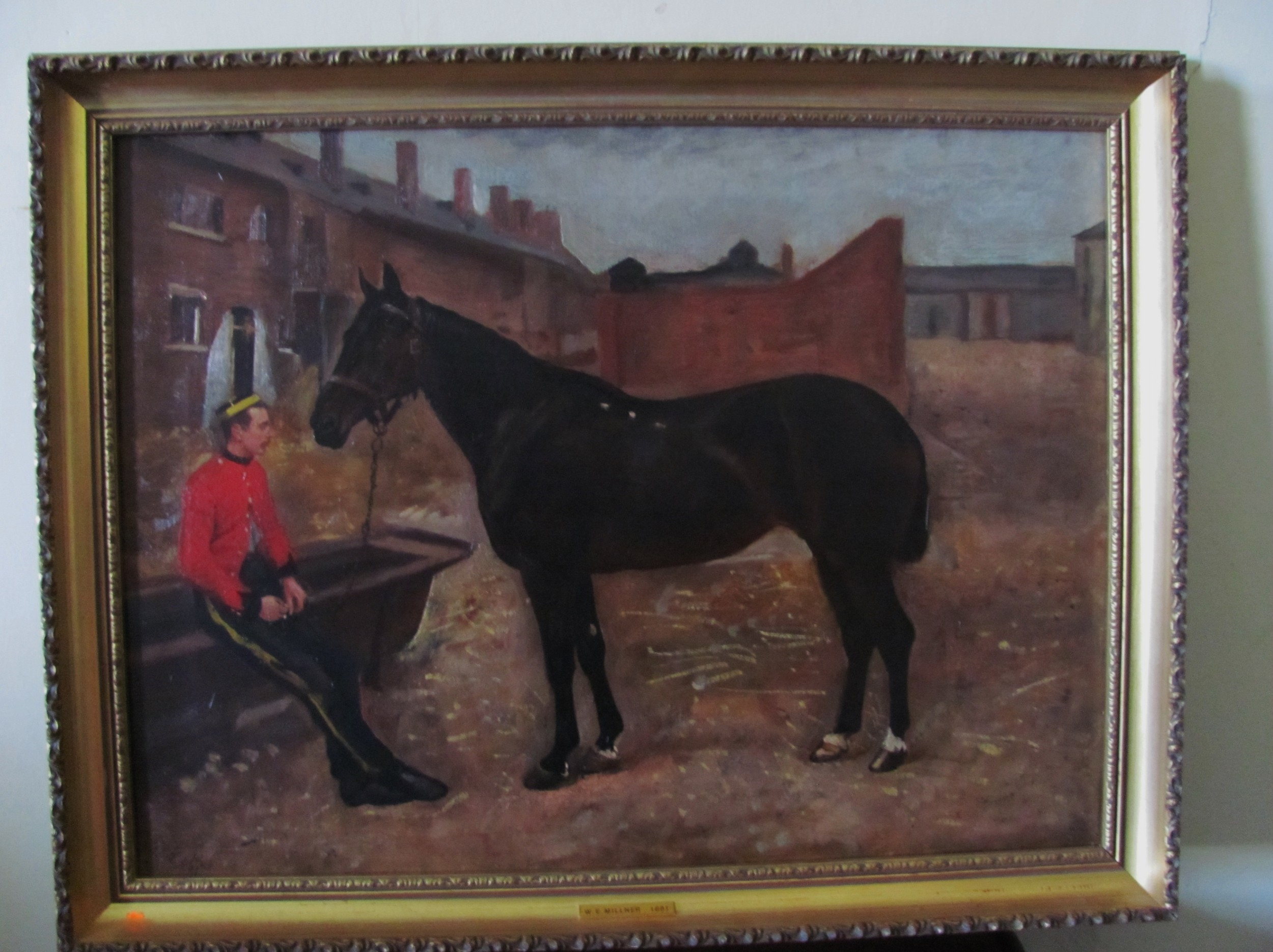 william edward millner bay horse with army officer