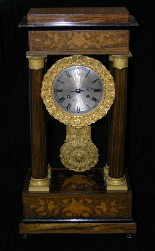 19th cent empire style portico clock