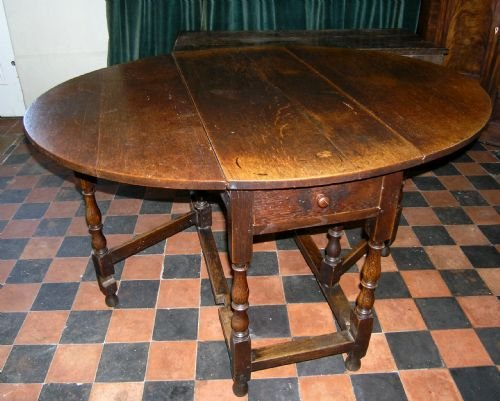 late 17th cent oak gate leg table
