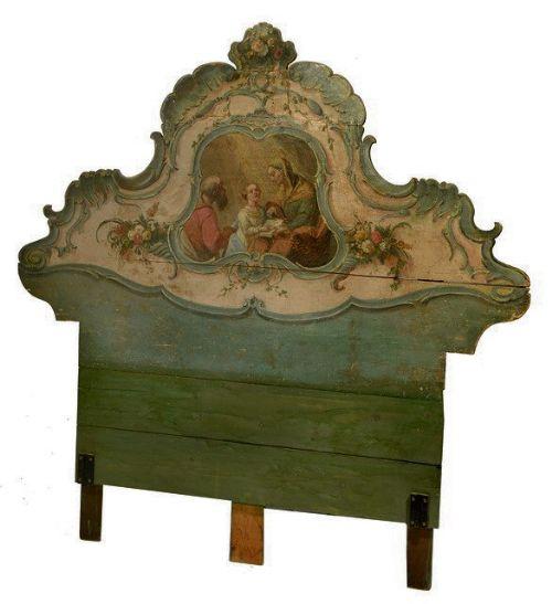 Italian Sofa Brent Cross: 19th Cent Painted Italian Bed Head
