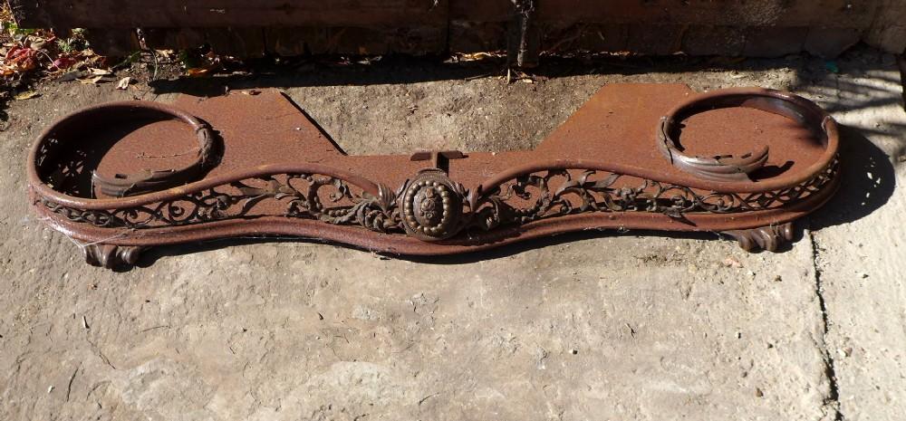 19th cent iron steel fender