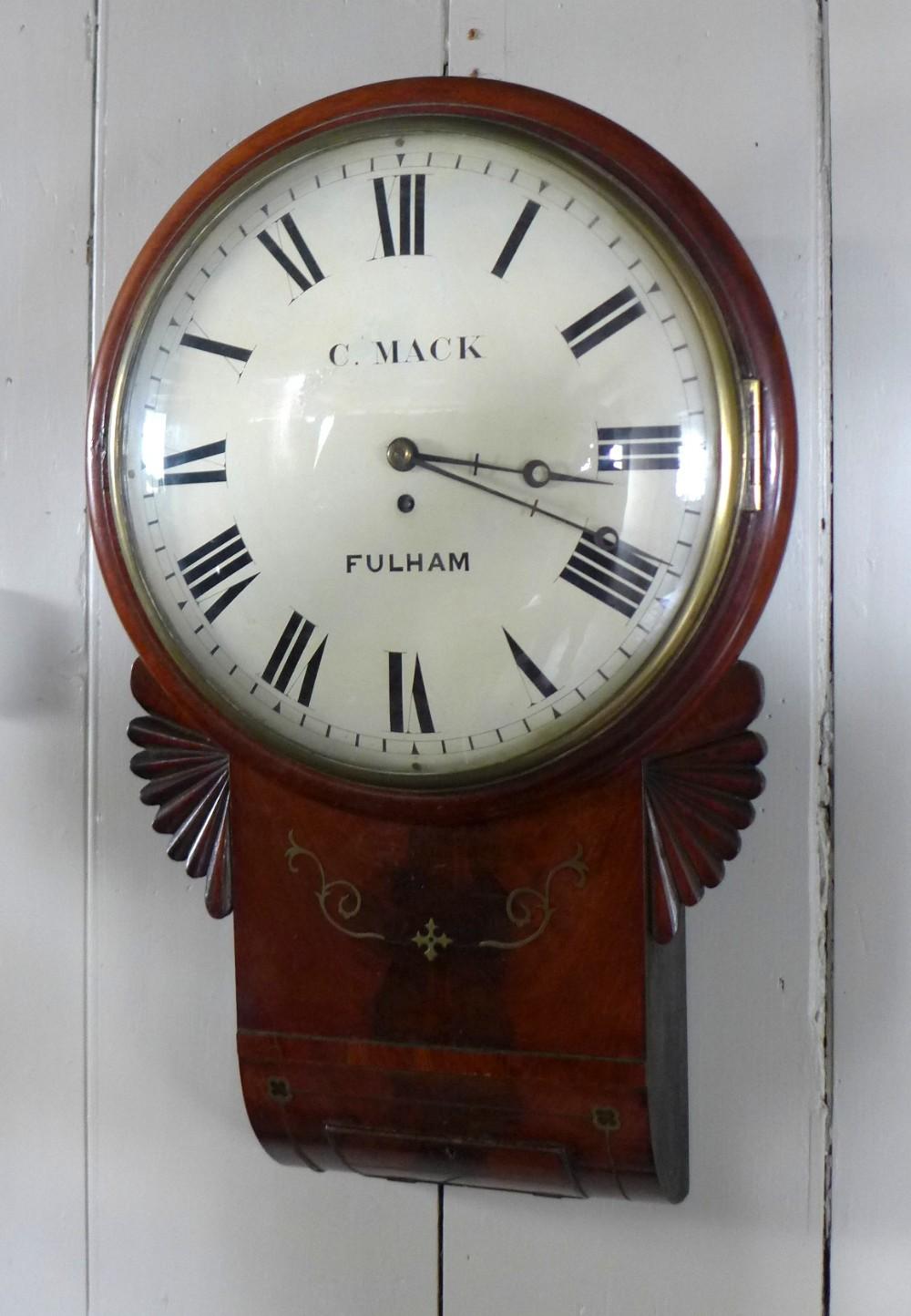regency period convex drop dial wall clock
