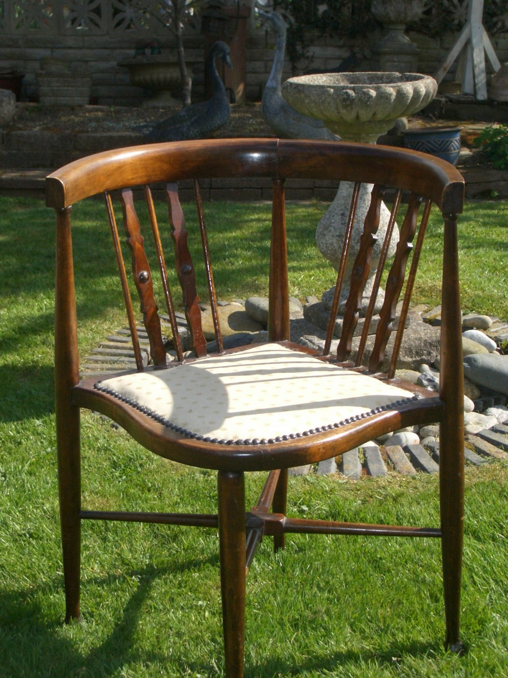 antique edwardian mahogany corner chair 338540