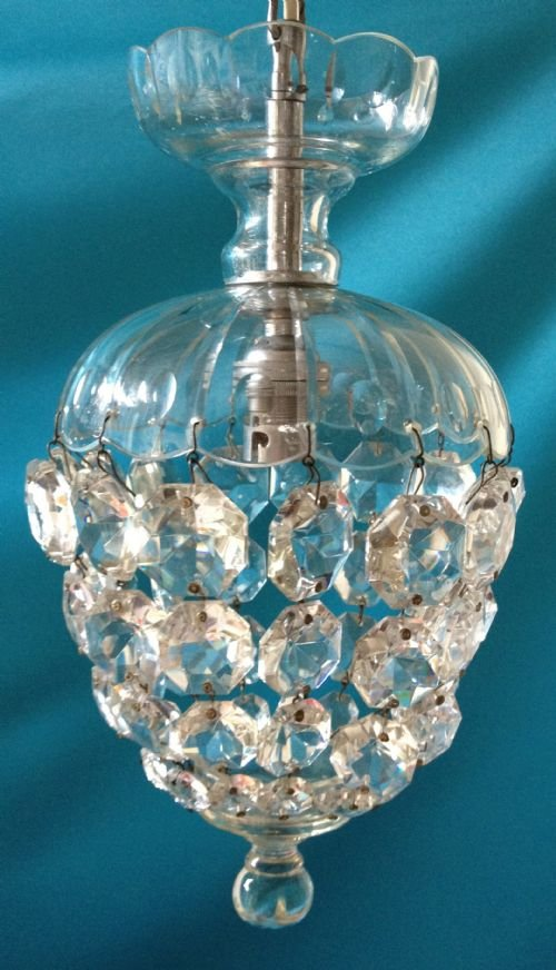 Small Victorian Bag Chandelier 164451 Sellingantiques