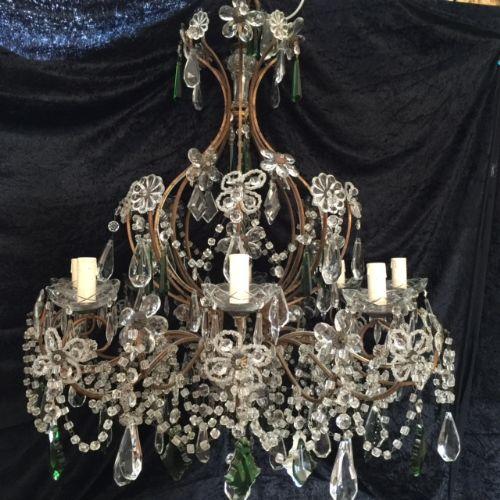 gilt italian antique chandelier