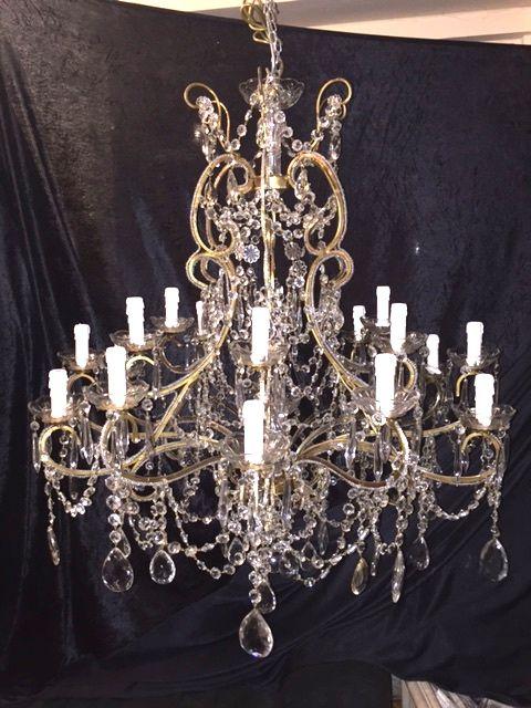 large italian florentine gilt antique chandelier
