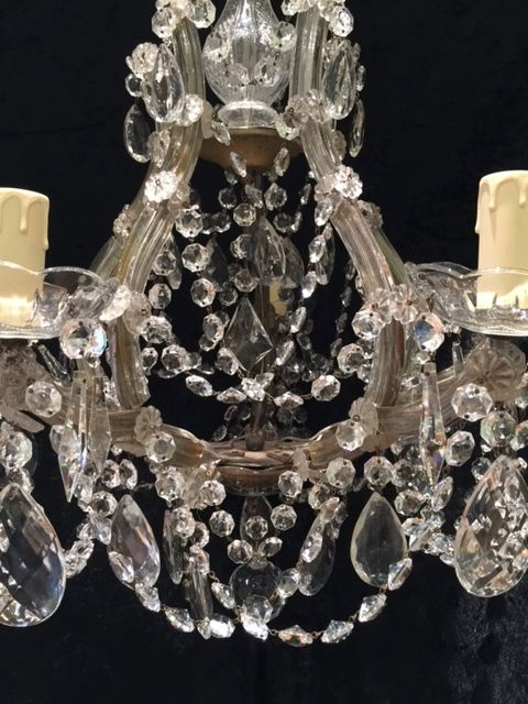 Italian Marie Theresa Crystal Antique Chandelier 452986