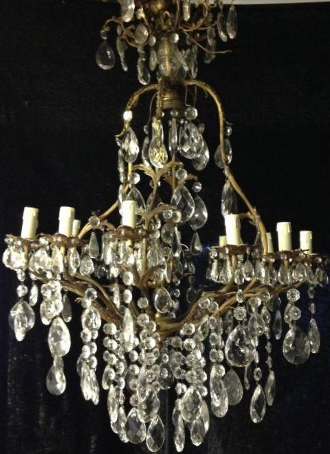 large french birdcage antique 12 light chandelier