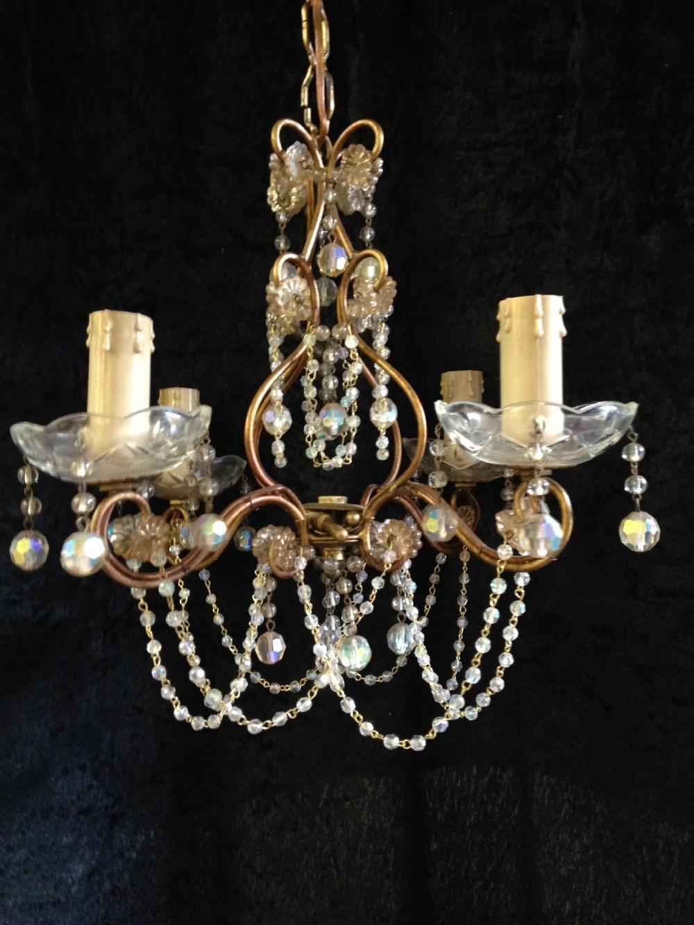 dainty gilt florentine chandelier