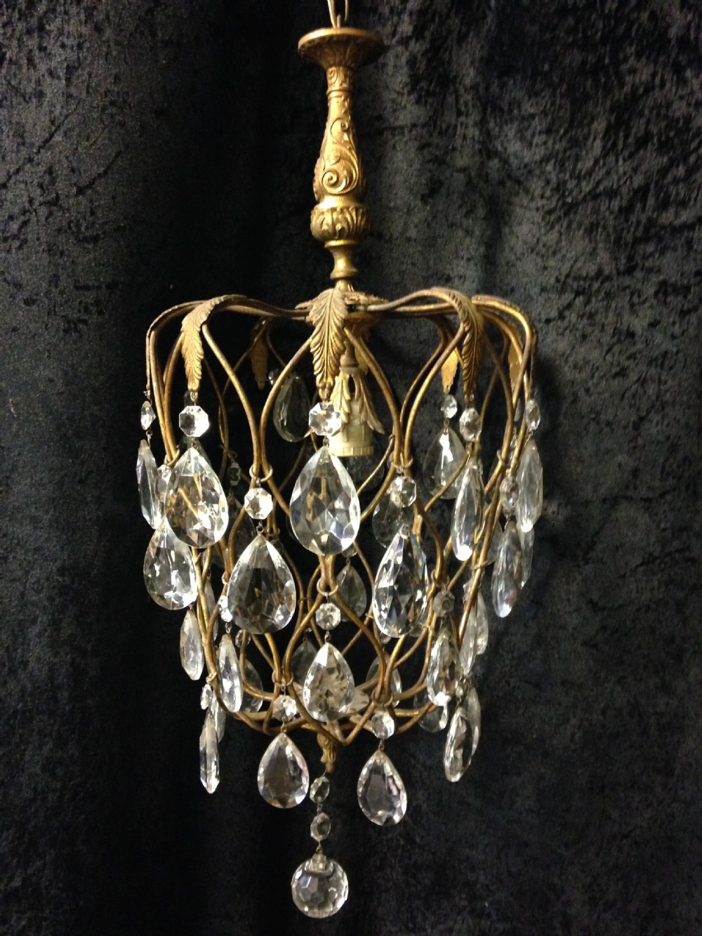 Small Antique Italian Pineapple Chandelier