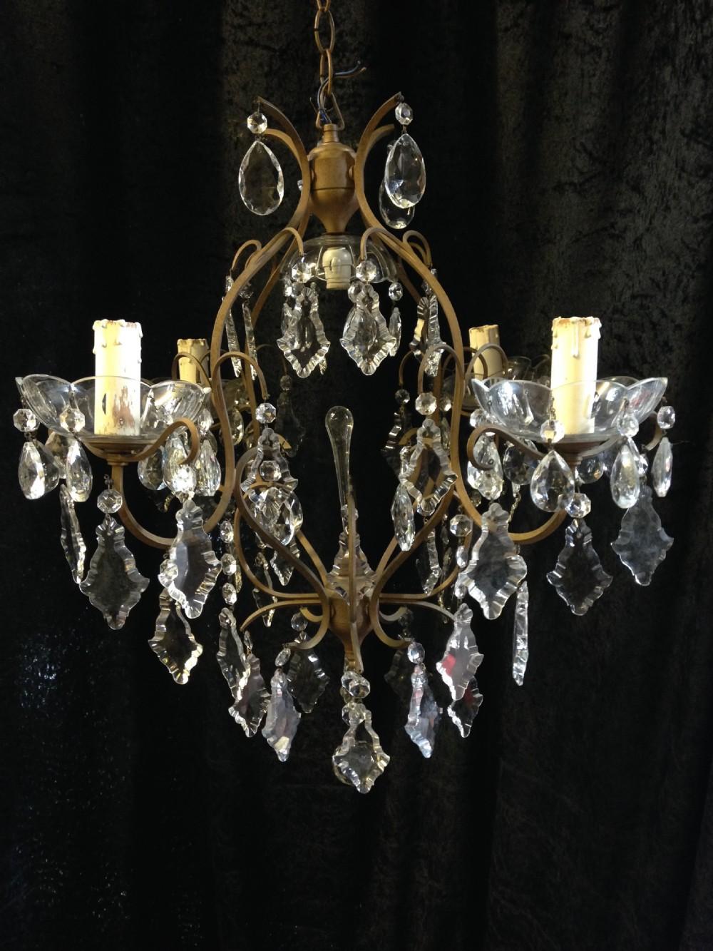 french antique birdcage chandelier