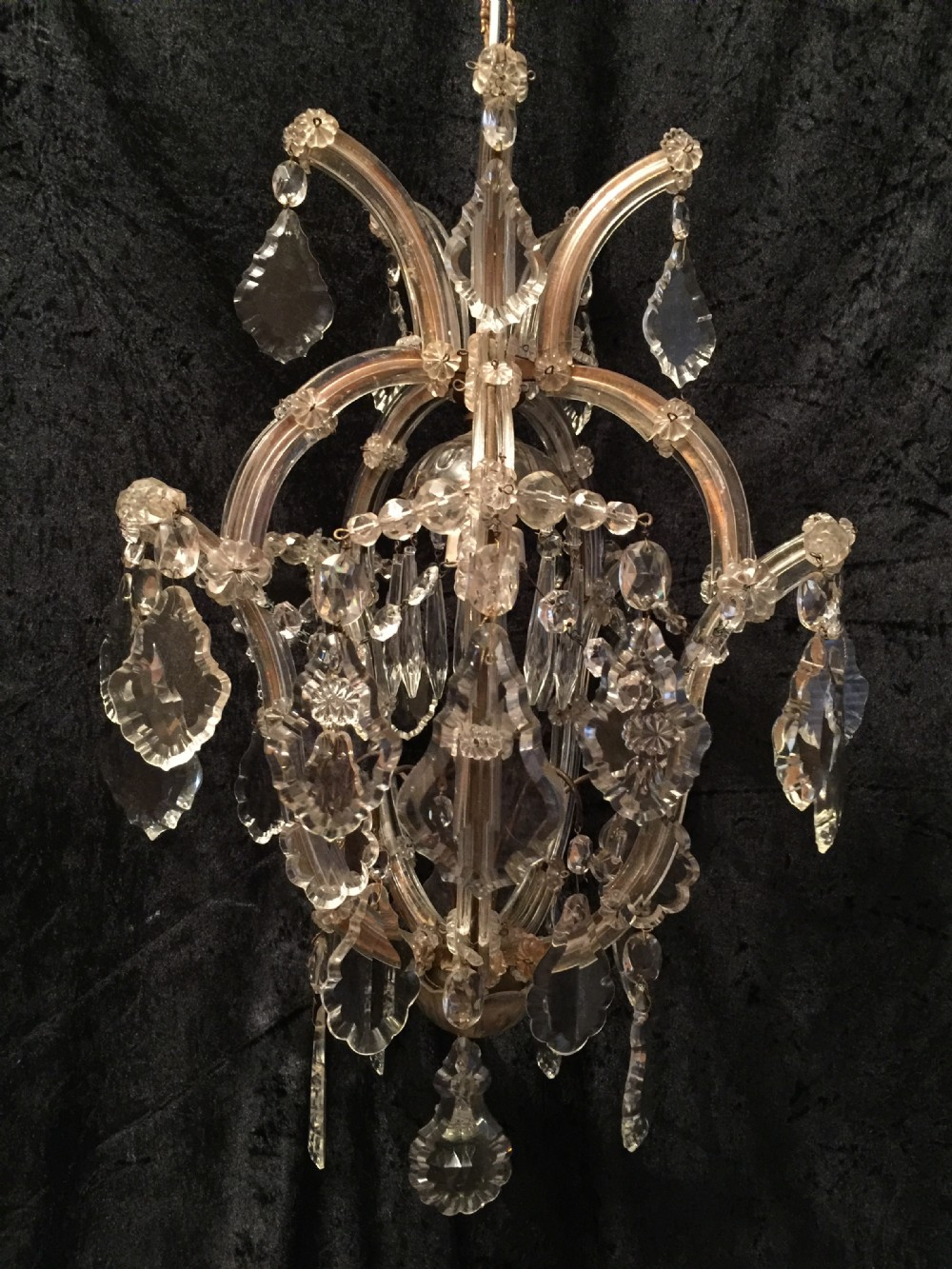 small antique italian marie theresa chandelier