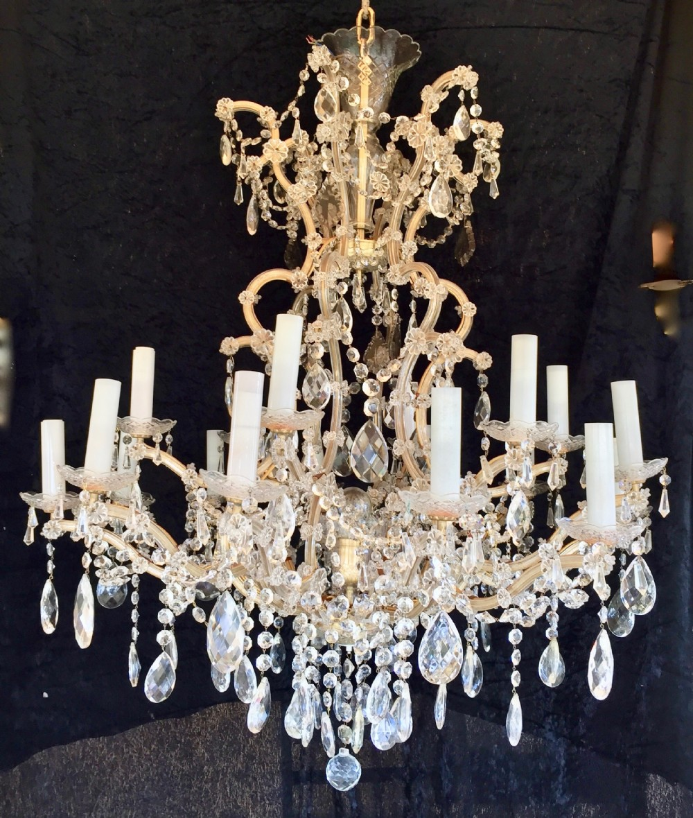 largetwo tier italian marie theresa chandelier