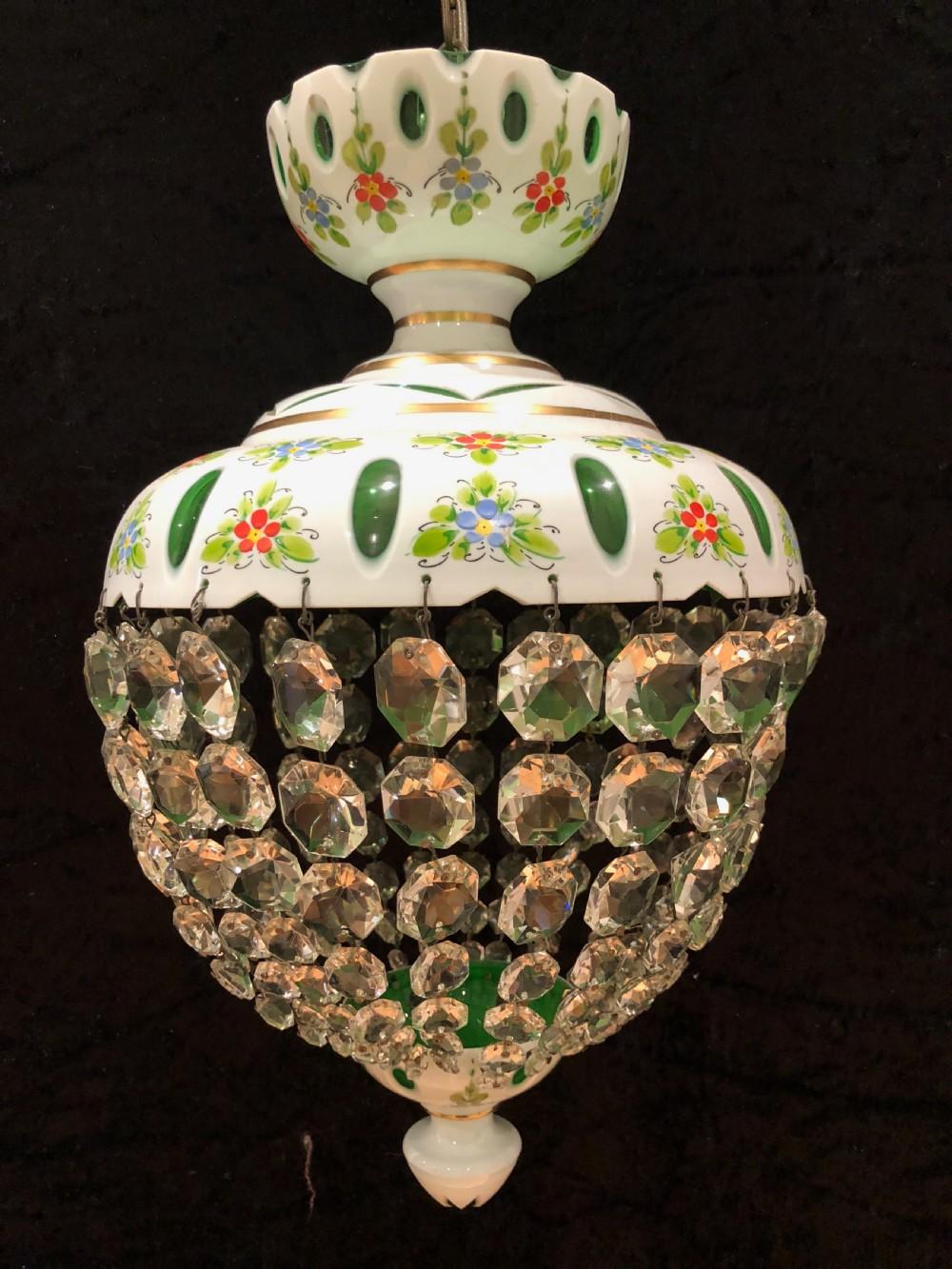 venetian overlaid antique bag chandelier