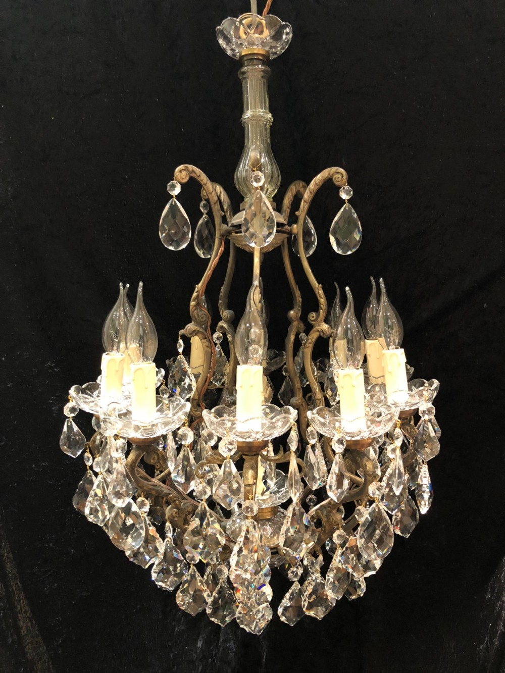 french cage style antique 10 light chandelier