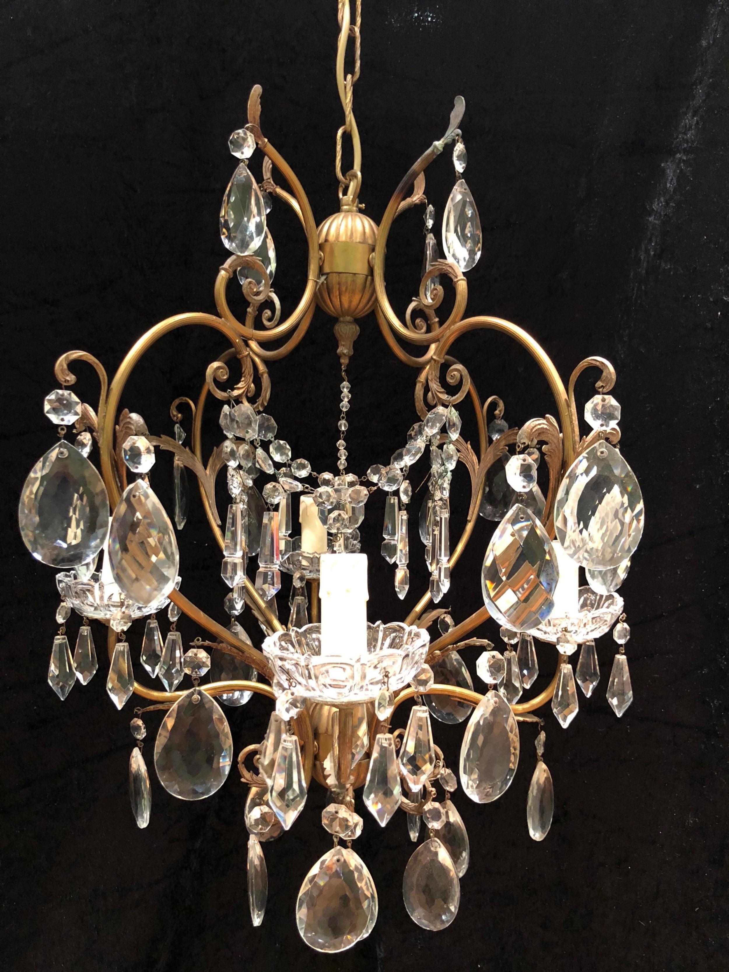 Small italian antique chandelier 515166 sellingantiques small italian antique chandelier arubaitofo Images