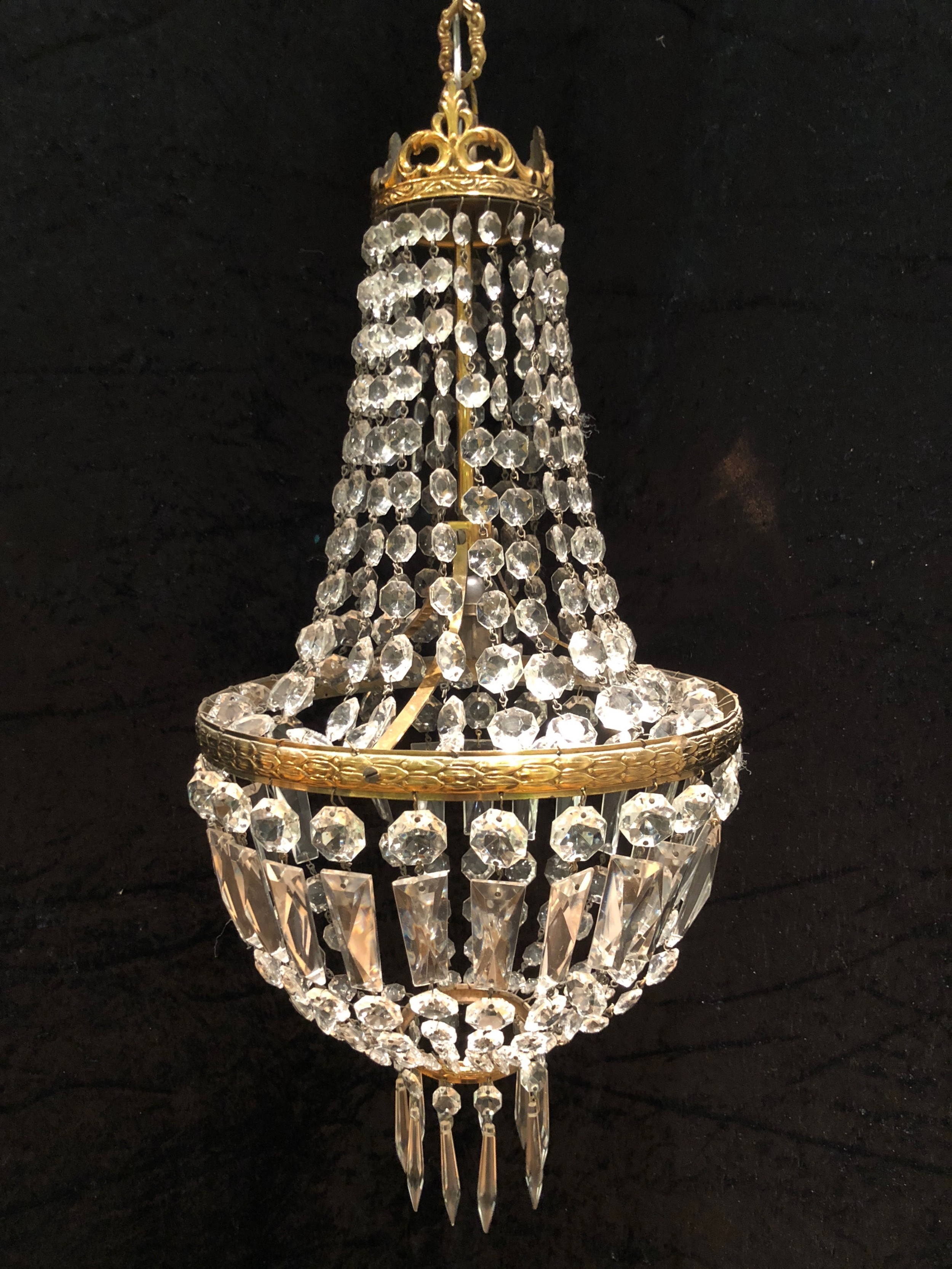 french empire one light chandelier