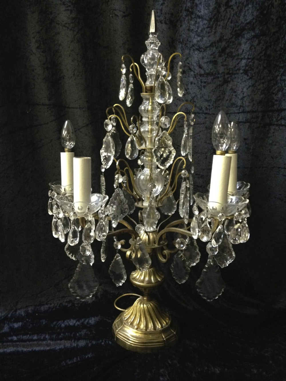French Antique Table Lamp Chandelier 325351