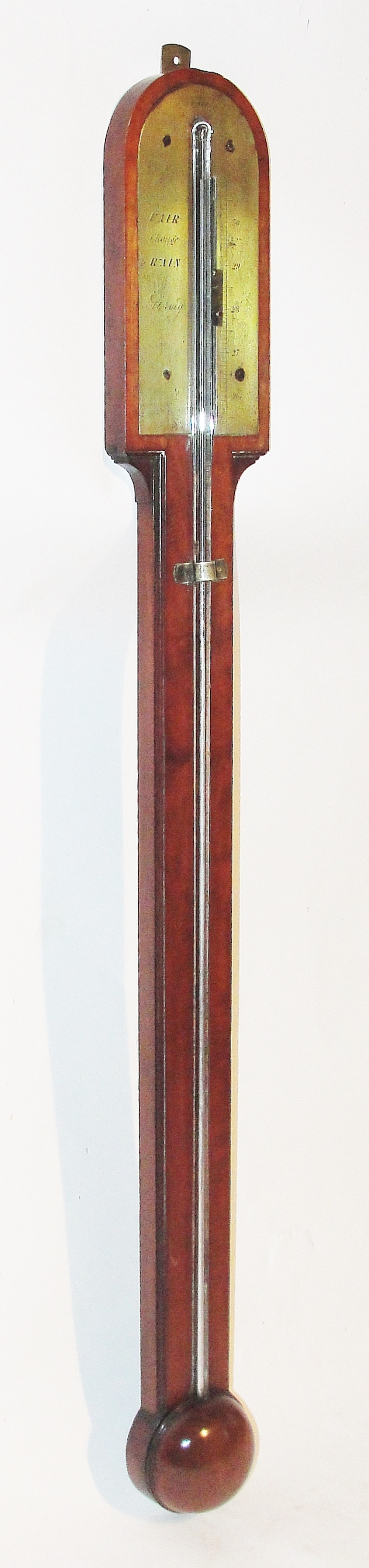 early victorian scottish mahogany stick barometer by adie of edinburgh circa 1845