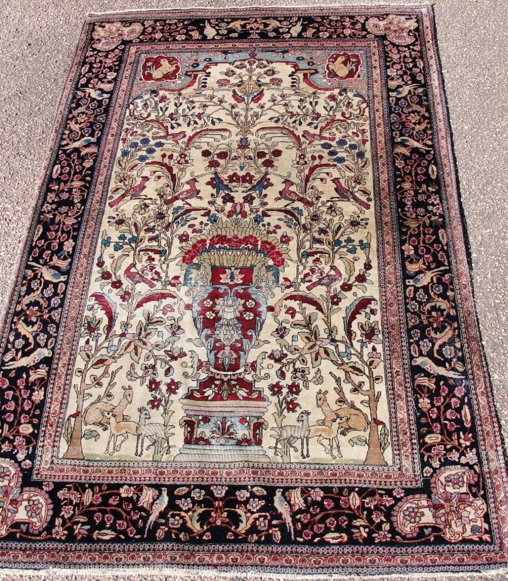 Antique Persian Isfahan Rug. Circa 1910