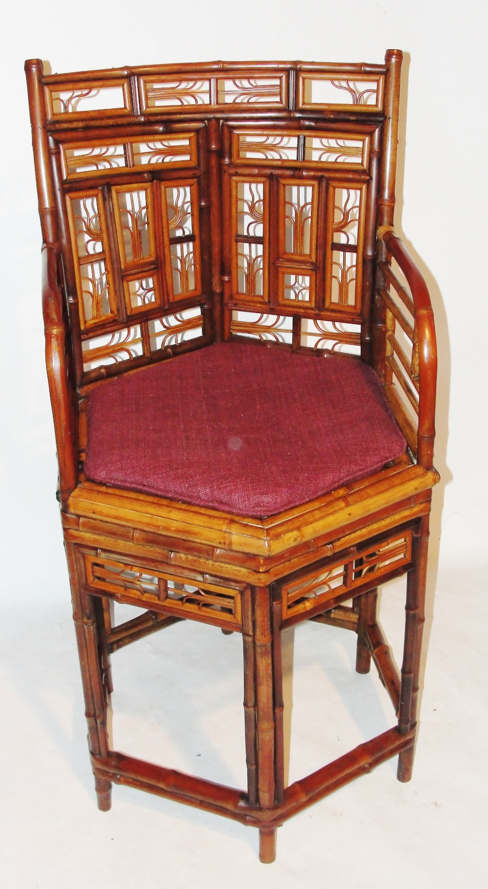 regency chinese export bamboo elbow chair circa 1815
