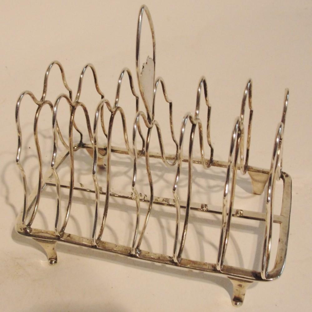 georgian silver toast rack 1800