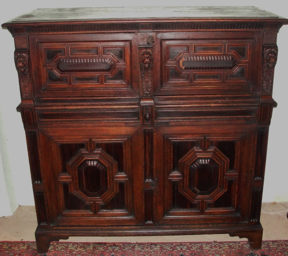 17th century dutch zeeland oak kast or cabinet circa 1650