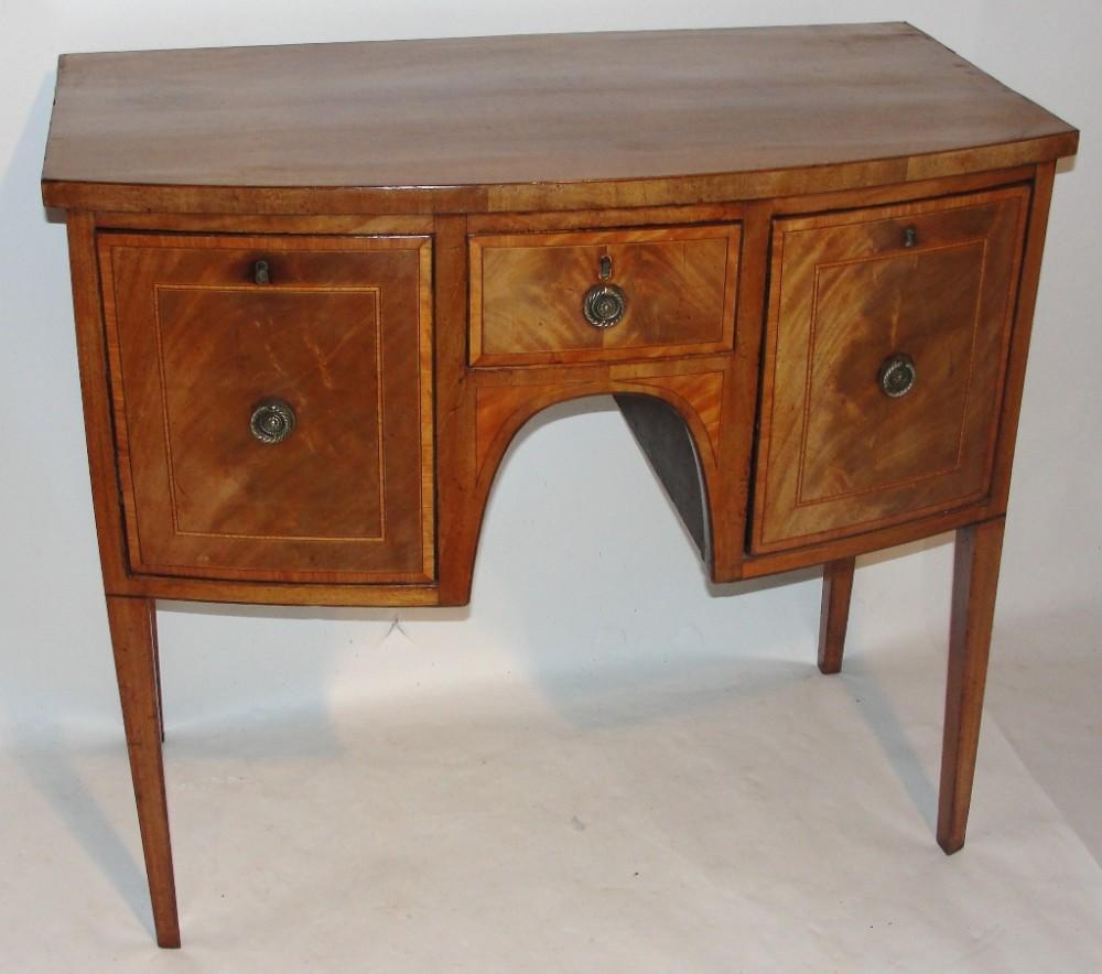 scottish sheraton mahogany dressing table circa 1800