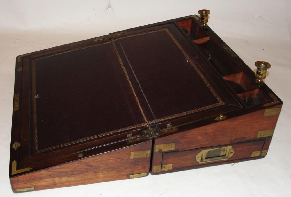 regency rosewood brass bound lap desk circa 1830