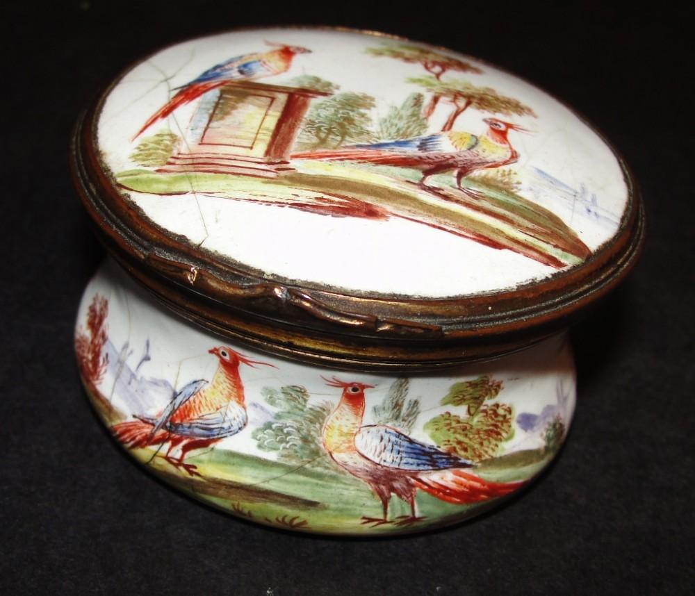 georgian battersea enamel patch box circa 1770