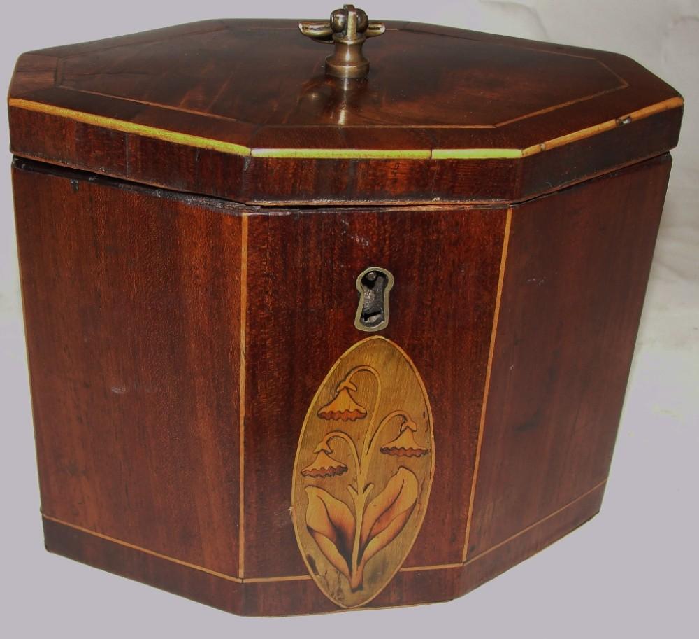 georgian mahogany small tea caddy circa 1790