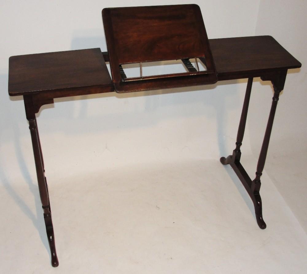 georgian style mahogany reading table circa 1890