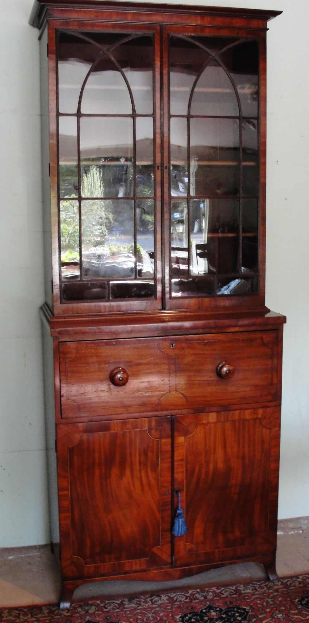small georgian mahogany secretaire bookcase circa 1810