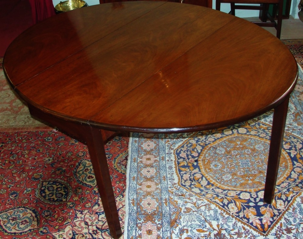 georgian mahogany oval cottage dining table circa 1780