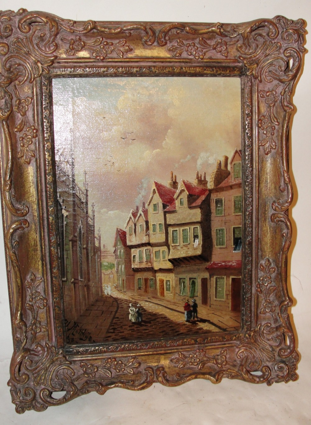 victorian oil on canvas castle hill edinburgh 1898