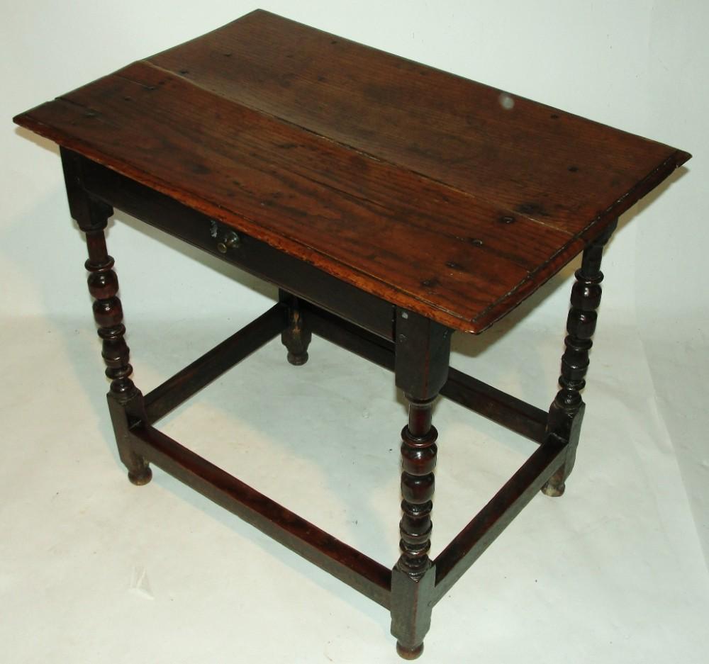 early oak side table circa 1690