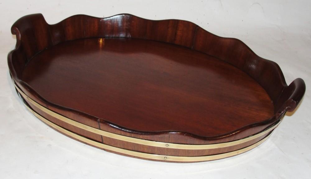 georgian mahogany oval tray circa 1790