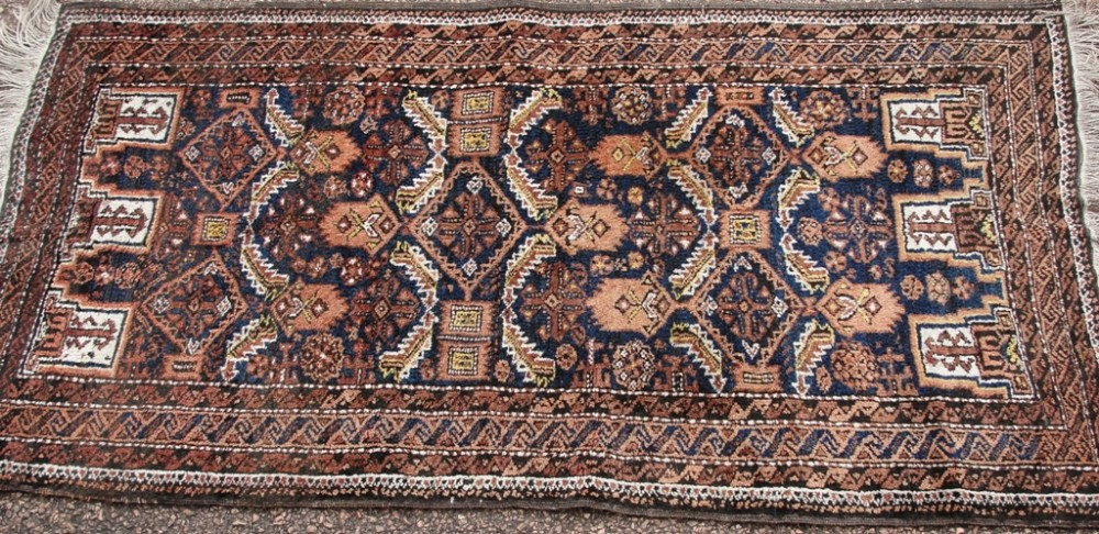 antique persian balouche rug circa 1920