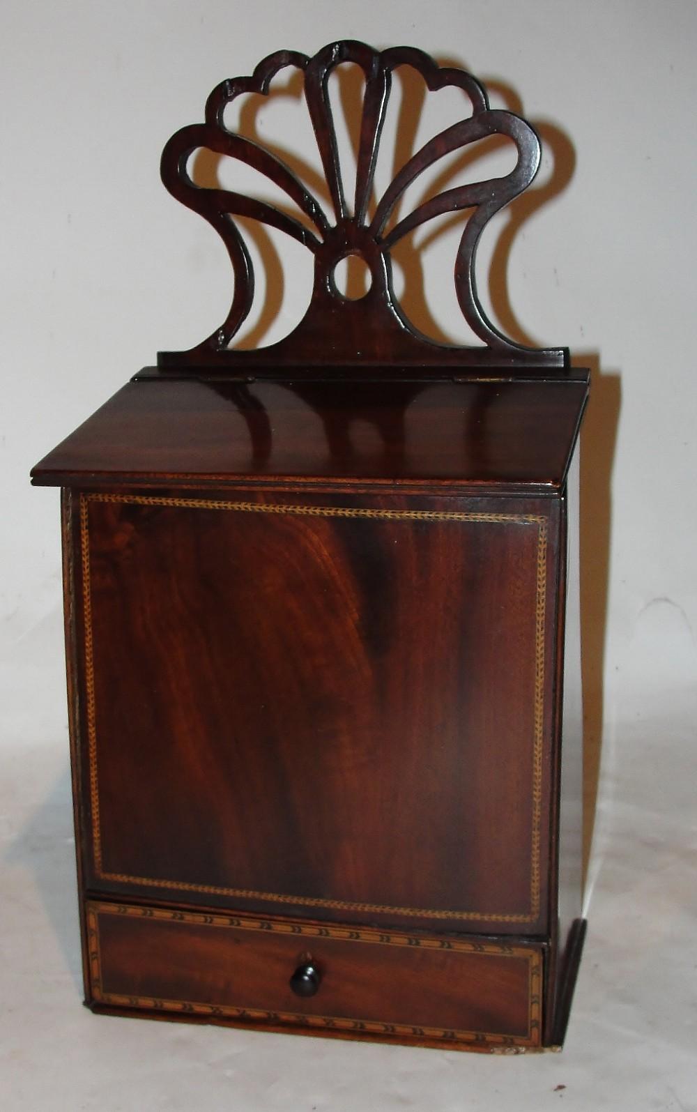 georgian mahogany candlebox circa 1780