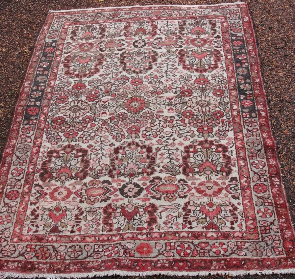 antique persian hamadan rug circa 1920